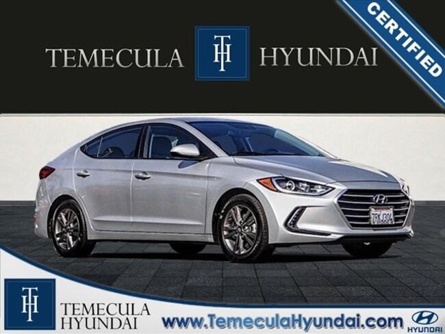 Certified Pre-Owned 2017 Hyundai Elantra SE Popular & Tech Packages-Certified Sedan in Temecula, CA near Hemet
