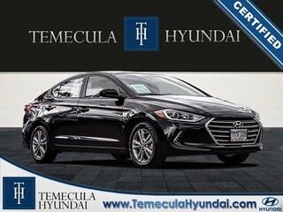 Used 2018 Hyundai Elantra Value Edition Certified Sedan in Temecula, CA