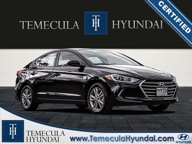 Certified Pre-Owned 2018 Hyundai Elantra Value Edition Certified Sedan in Temecula, CA near Hemet