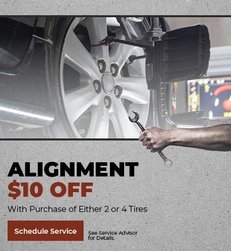 Alignment. $10 Off