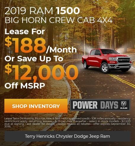 September   RAM 1500 Big Horn