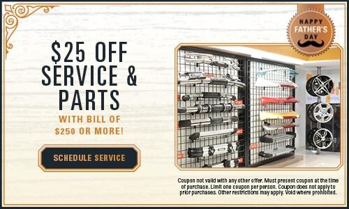 $25 Off Service & Parts