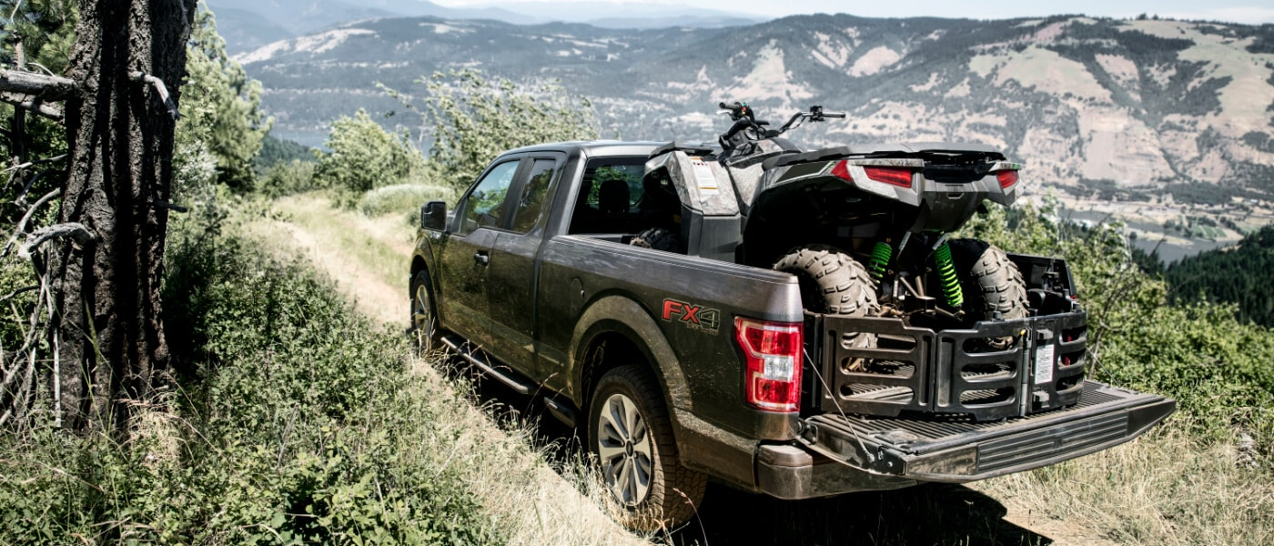 2020 Ford F-150 hauling an ATV