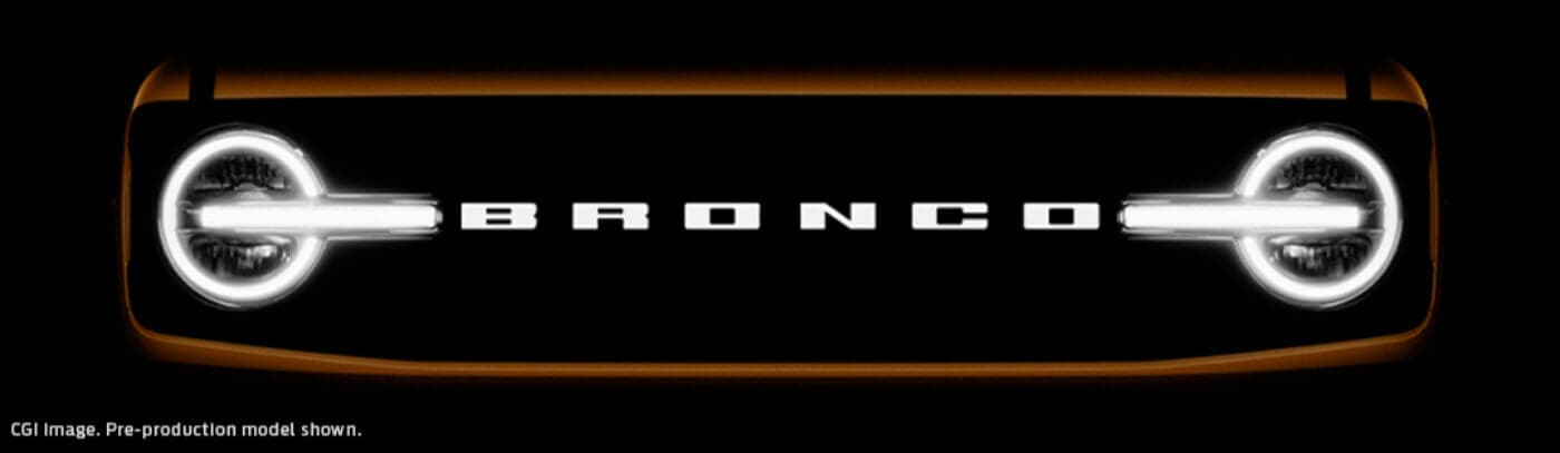 2021 Ford Bronco Grill Teaser Image