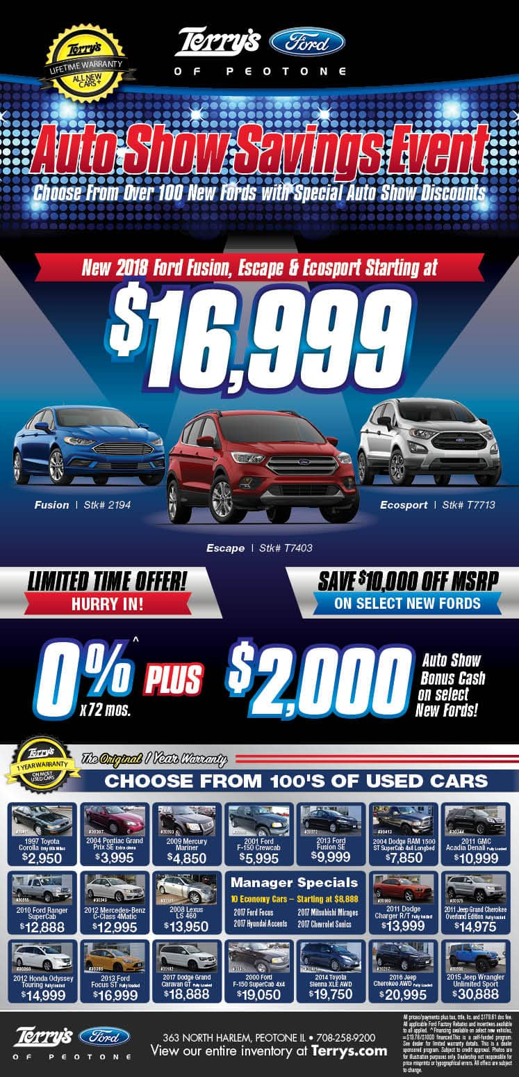 Auto Show Savings Event