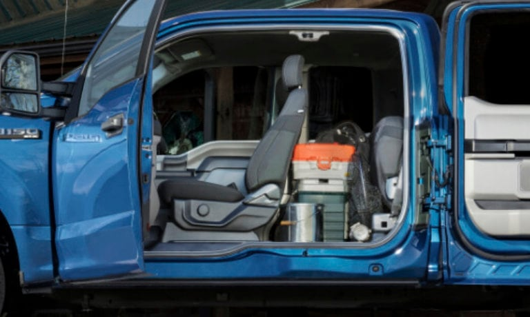 2020 Ford F-150 Interior side view of cab