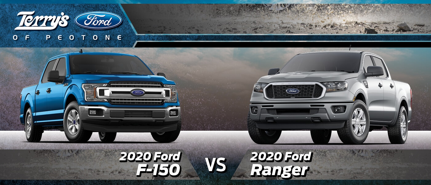 2020 Ford F-150 vs Ranger in Peotone, IL