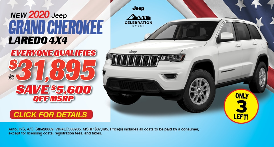 Jeep Grand Cherokee Laredo Deal - April 2021