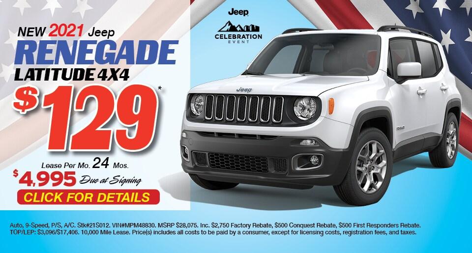 Jeep Renegade Deal - April 2021