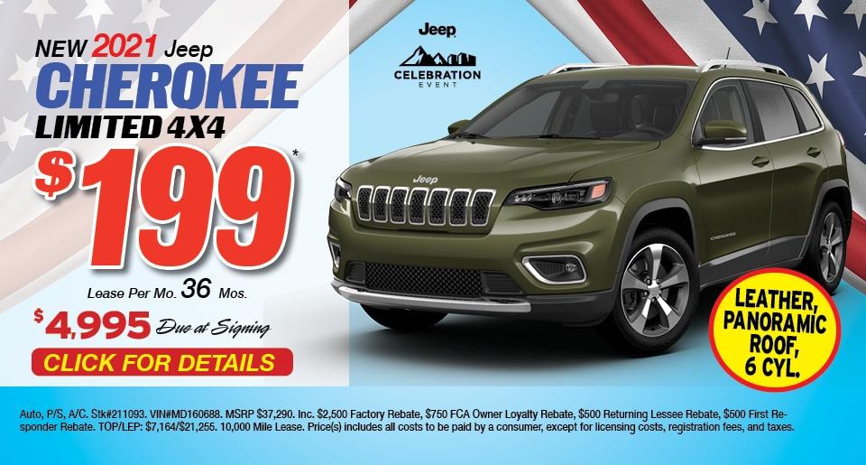 Jeep Cherokee Deal - April 2021