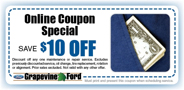 Save on Any Service Service Coupon, Grapevine, TX Automotive Service Special