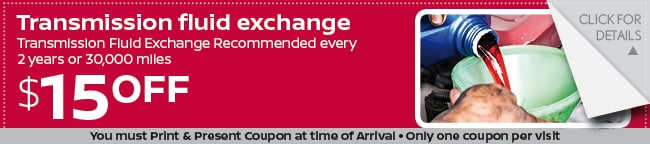 Transmission Fluid Exchange Coupon, Grapevine