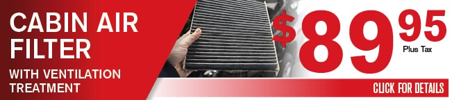 Cabin Air Filter Coupon, Dallas Area Automotive Service