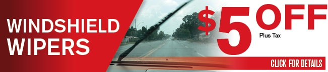 Windshield Wipers Check Coupon, Dallas Area Automotive Service