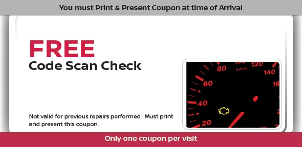 Complimentary Nissan Car Code Check Service Maintenance Grapevine Tx