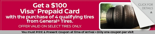 General Tire Visa Prepaid Card, Grapevine