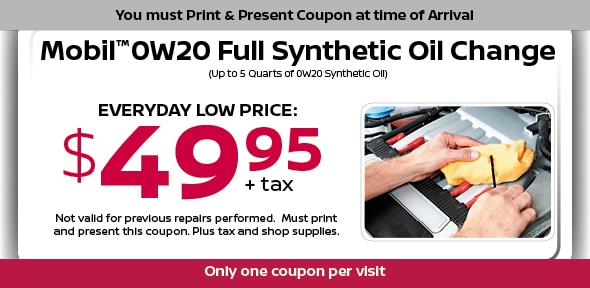 Synthetic Oil Change Special, Dallas Area Automotive Service Coupon