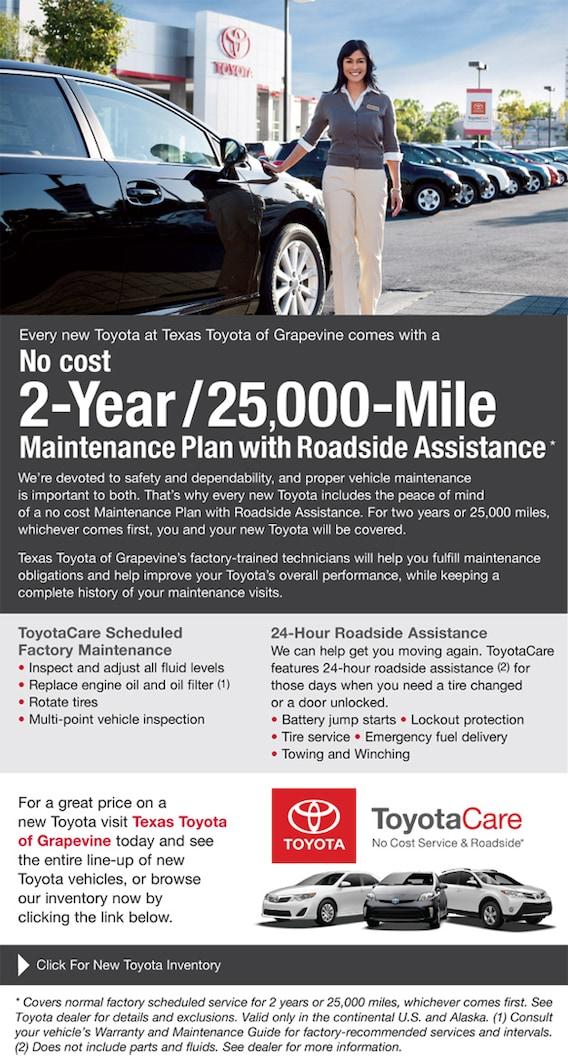 Toyotacare Roadside Assistance Number >> Toyotacare Plan Information Roadside Assistance In
