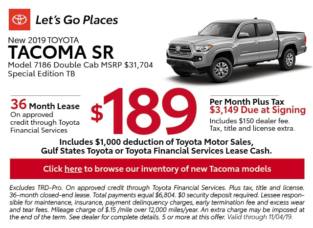 Suv Lease Specials >> Available Toyota Car Suv Leasing Specials In Grapevine
