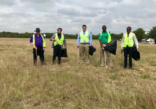 Texas Toyota of Grapevine Cleans up the Neighborhood