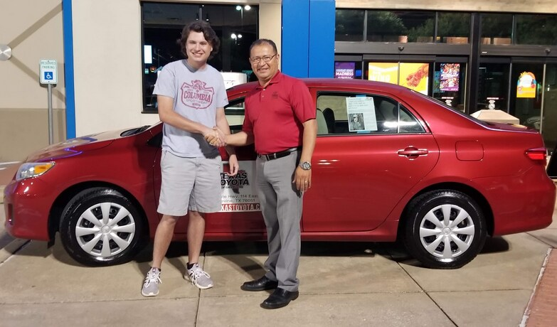 Grapevine High School's 2019 Project Graduation Winner with new car