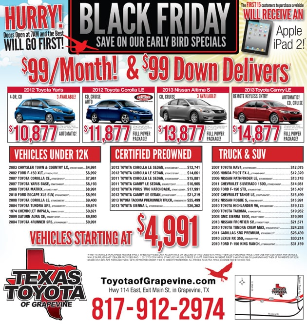 black friday car sales grapevine texas great black friday car