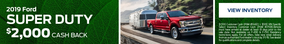 New 2019 Ford Super Duty 4/5/2019