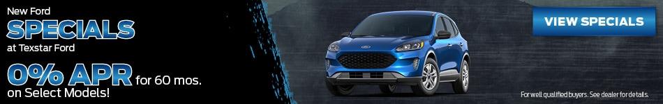 New Ford Specials at Texstar Ford - September 2020