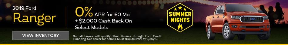 APR 2019 Ford Ranger 9/12/2019