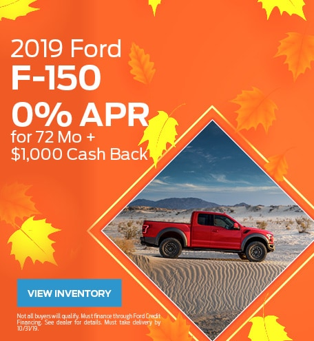 New 2019 Ford F-150 10/9/2019