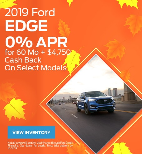 New 2019 Ford Edge 10/9/2019