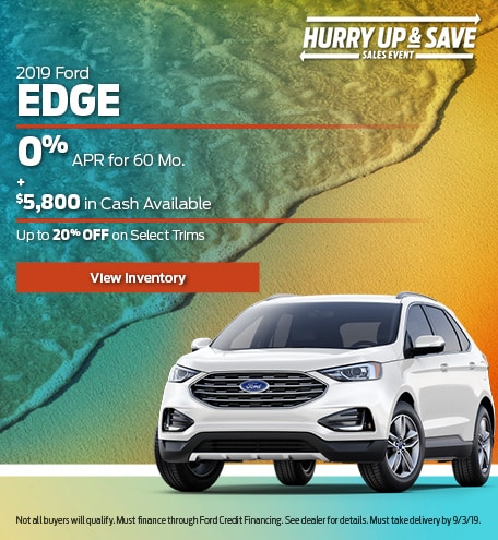 New 2019 Ford Edge 7/19/2019
