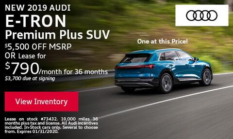 New 2019 Audi e-Tron Premium Plus SUV