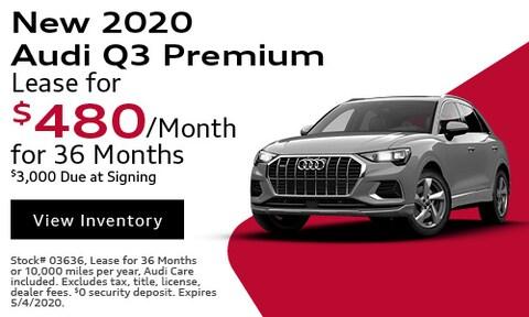 New 2020 Audi Q3 Premium - April