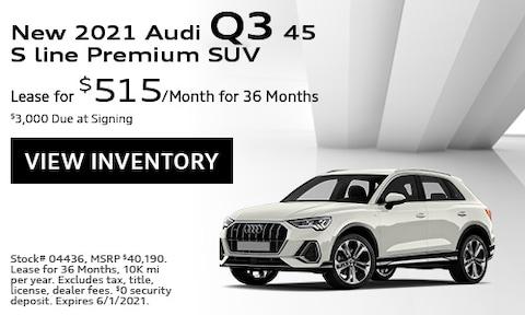 New 2021 Audi Q3 45 S line Premium SUV - May
