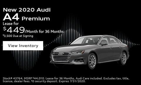 New 2020 Audi A4 Premium - July