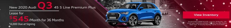 New 2020 Audi Q3 - October