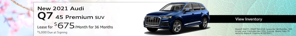 New 2021 Audi Q7 45 Premium SUV - April