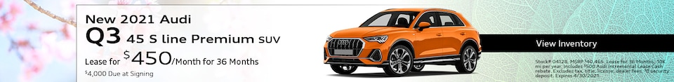 New 2021 Audi Q3 45 S line Premium SUV - April