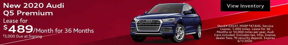 New 2020 Audi Q5 Premium - May
