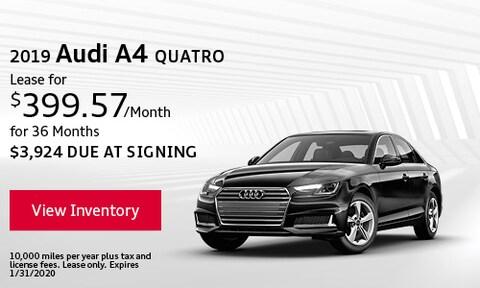 2019 Audi A4 Quatro - Jan