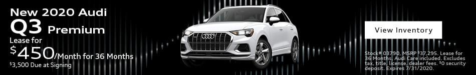 New 2020 Audi Q3 Premium - July