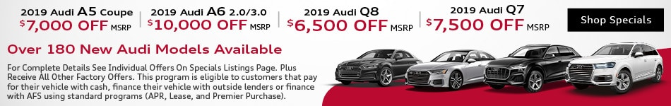 Over 180 New Audis Available - April