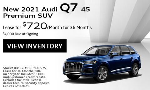 New 2021 Audi Q7 45 Premium SUV - May