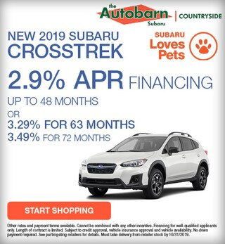 2019 Subaru Crosstrek Offer