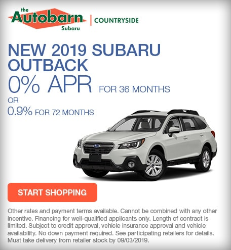 New 2019 Subaru Outback - August Special