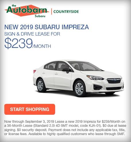 New 2019 Subaru Impreza - August Special
