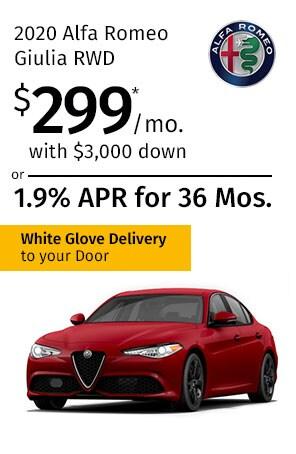 Lease the 2020 Alfa Romeo Giulia