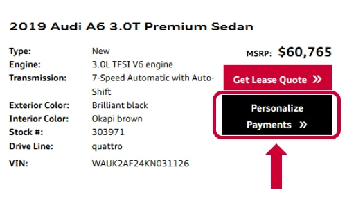 Estimate Lease Payment >> Personalize Audi Lease Or Finance Payments In Miami Structure Your