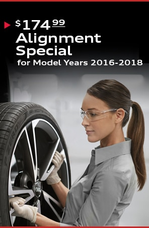 $174.99 4-Wheel Alignment Special for Model Years 2016-2018